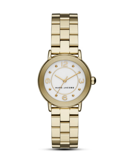 Quarzuhr Riley MJ3473 MARC JACOBS gold,weiß 4053858681552
