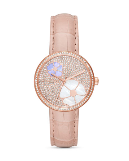 Quarzuhr Courtney MK2718 MICHAEL KORS roségold,,violett,weiß,rosa 4053858989863