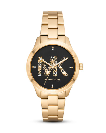 Quarzuhr Runway MK6682 MICHAEL KORS Gold 4013496508178