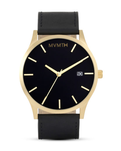 Quarzuhr Black / Gold Leather MM01-BGL MVMT gold,schwarz 853528005220