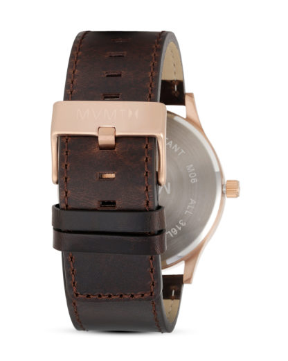 Quarzuhr Rose Gold / Brown Leather MM01-RGBL MVMT Herren Leder 853528005251