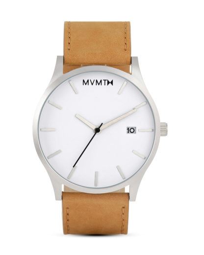 Quarzuhr Classic White / Tan Leather L213.1L.331 MVMT beige,silber,weiß 853528005039
