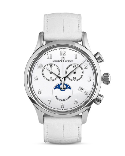 Schweizer Chronograph Les Classiques LC1087-SS001-120-1 MAURICE LACROIX silber,weiß 7630020600367