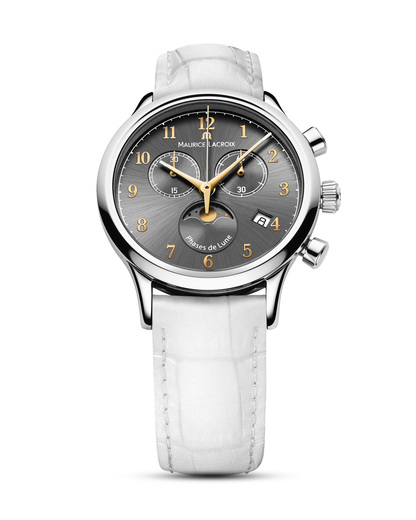Schweizer Chronograph Les Classiques LC1087-SS001-821-1 MAURICE LACROIX grau,silber,weiß 7630020600374