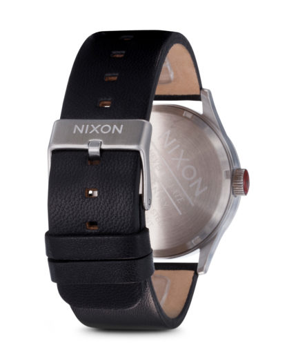 Quarzuhr Sentry Leather A105 000-00 Black NIXON Herren Leder 3007001595358