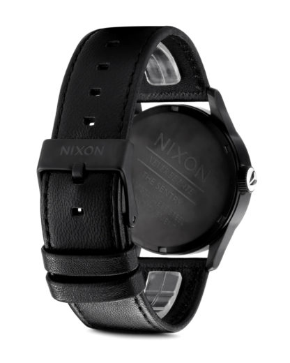Quarzuhr Sentry Leather A105 005-00 Black / White NIXON Herren Leder 3608700001630