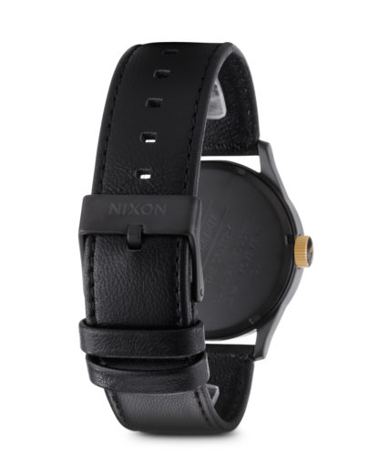 Quarzuhr Sentry Leather A105 1041-00 Matte Black / Gold NIXON Herren Leder 3007001865338