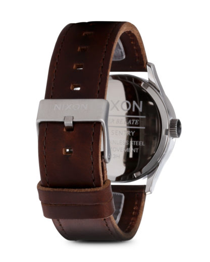Quarzuhr Sentry Leather A105 1113-00 Silver / Brown NIXON Herren Leder 3007001929740