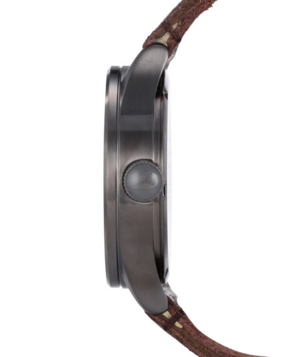 Quarzuhr Sentry Leather A105 1388-00 Gunmetal / Brown NIXON Herren Leder 3608700055060