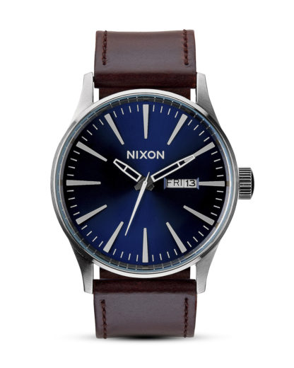 Quarzuhr Sentry Leather A105 1524-00 Blue / Brown NIXON braun,schwarz,silber 3608700001647