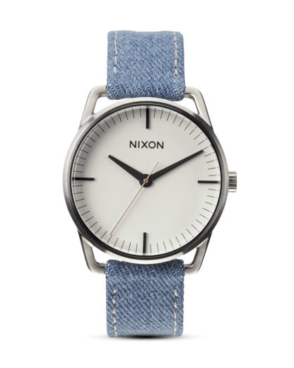 Quarzuhr Mellor A129 1601-00 Washed Denim / Cream NIXON beige,blau,silber 3608700001845