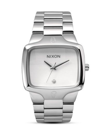 Quarzuhr Player A140 100-00 White NIXON silber 3007000684992