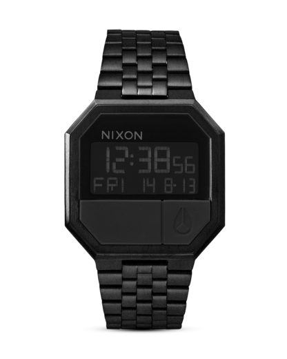Digitaluhr Re-Run A158 001-00 All Black NIXON schwarz 3007001768936