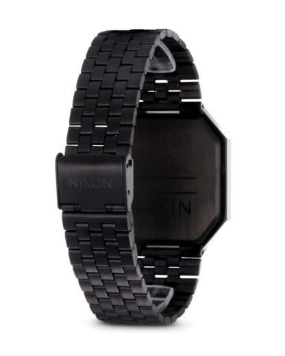 Digitaluhr Re-Run A158 001-00 All Black NIXON Damen,Herren Edelstahl 3007001768936