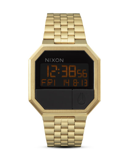 Digitaluhr Re-Run A158 502-00 All Gold NIXON gold,schwarz 3007001768950