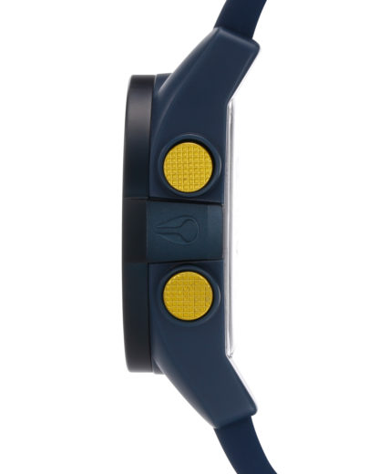 Digitaluhr Unit A197 1264-00 Steel Blue / Yellow Ano NIXON Damen,Herren Silikon 3608700037806
