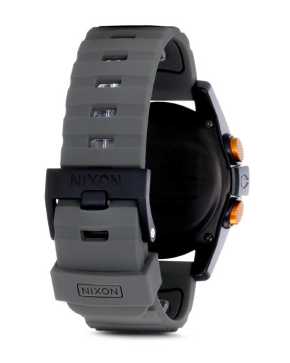 Digitaluhr Unit A197 1265-00 Surplus / Black / Orange Ano NIXON Damen,Herren Silikon 3608700037813