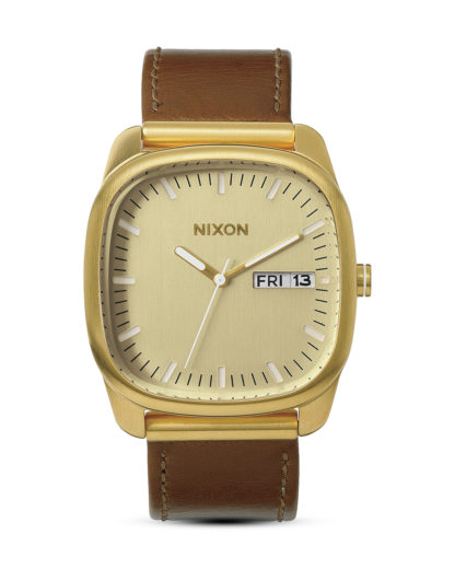 Quarzuhr Identity A268 1425-00 Gold / Saddle NIXON braun,gold 3608700083599