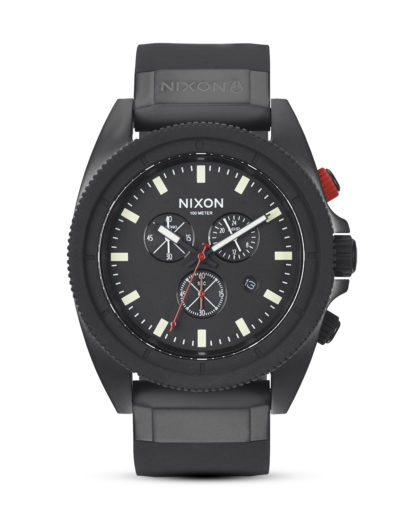 Chronograph Rover A290 760-00 All Black / Red NIXON schwarz 3608700002248