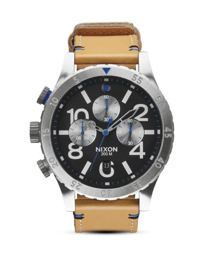 Chronograph 48-20 Leather A363 1602-00 Natural / Black NIXON beige,schwarz,silber 3608700002637