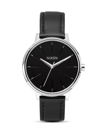 Quarzuhr Kensington Leather A108 000-00 Black NIXON schwarz,silber 3007001597222
