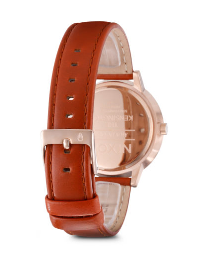 Quarzuhr Kensington Leather A108 1045-00 Rose Gold / White NIXON Damen Leder 3007001865352