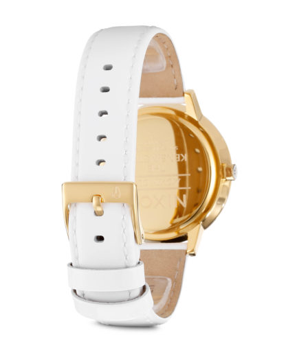 Quarzuhr Kensington Leather A108 1393-00 All White / Gold Patent NIXON Damen Leder 3608700083407