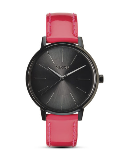 Quarzuhr Kensington Leather A356 510-00 Bright Pink Patent NIXON grau,pink 3608700083926