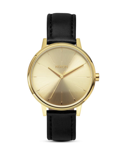 Quarzuhr Kensington Leather A108 501-00 Gold NIXON gold,schwarz 3007001597550