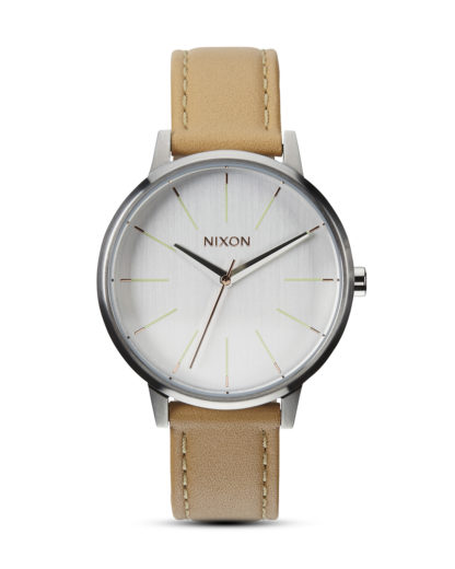 Quarzuhr Kensington Leather A108 1603-00 Natural / Silver NIXON beige,silber 3608700001739