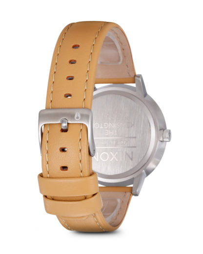 Quarzuhr Kensington Leather A108 1603-00 Natural / Silver NIXON Damen,Herren Leder 3608700001739