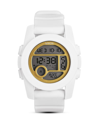 Digitaluhr Unit 40 A490 1035-00 All White / Gold NIXON gold,weiß 3608700059778