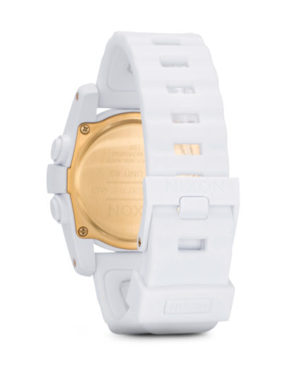 Digitaluhr Unit 40 A490 1035-00 All White / Gold NIXON Damen,Herren Kunststoff 3608700059778