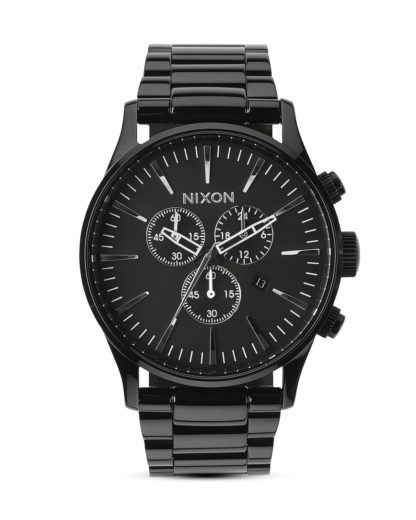 Chronograph Sentry A386-001-00 All Black NIXON schwarz 3608700069814