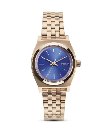 Quarzuhr Small Time Teller A399-1748-00 Rose Gold / Cobalt NIXON blau,roségold 3608700070100