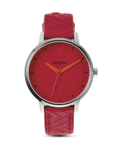 Quarzuhr Kensington Leather A108-1744-00 Red / Mod NIXON rot,silber 3608700067773