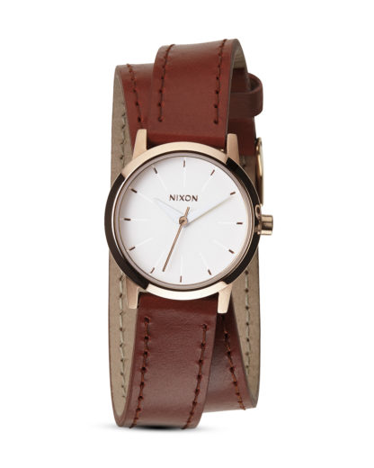 Quarzuhr Kenzi Wrap A403-1233-00 Rose Gold / Saddle NIXON braun,roségold,weiß 3608700070162