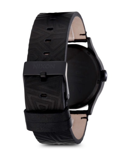 Quarzuhr Sentry Leather A105-1617-00 All Black Shadow NIXON Herren Leder 3608700066721