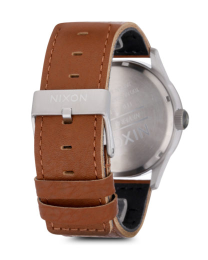 Quarzuhr Sentry Leather A105-1752-00 Saddle / Silver NIXON Herren Leder 3608700066899
