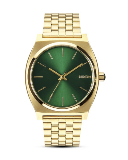Quarzuhr Time Teller A045 1919-00 Gold / Green Sunray NIXON gold,grün 3608700137988