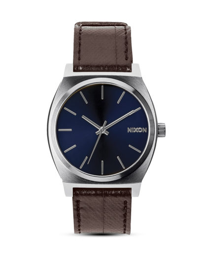 Quarzuhr Time Teller Leather A045 1524-00 Blue / Brown NIXON blau,braun 3608700193076