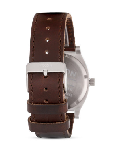 Quarzuhr Time Teller Leather A045 1524-00 Blue / Brown NIXON Herren Leder 3608700193076