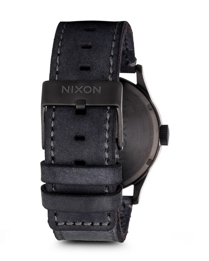 Quarzuhr Sentry Leather A105 1893-00 Gunmetal / Navy NIXON Herren Leder 3608700175423