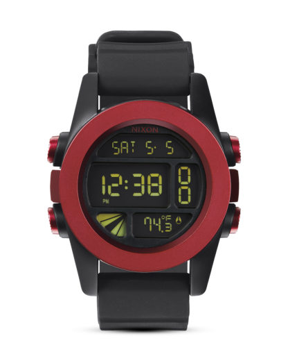 Digitaluhr Unit A197 1307-00 Dark Red / Black Ano NIXON rot,schwarz 3608700037820