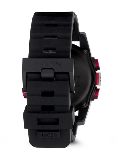 Digitaluhr Unit A197 1307-00 Dark Red / Black Ano NIXON Herren Silikon 3608700037820