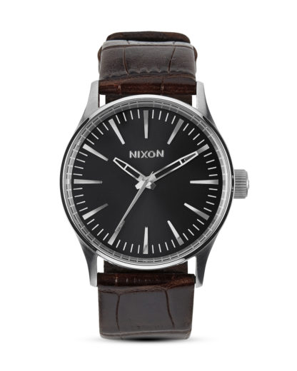 Quarzuhr Sentry 38 Leather A377 1887-00 Brown Gator NIXON braun,schwarz,silber 3608700175645