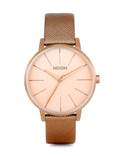Quarzuhr Kensington Leather A108 1923-00 Rose Gold Shimmer NIXON roségold 3608700175430