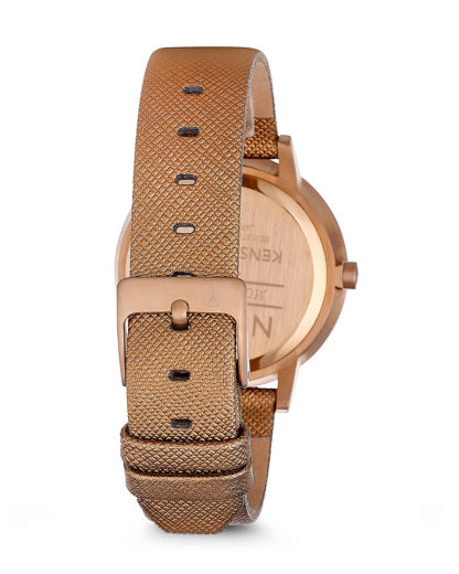 Quarzuhr Kensington Leather A108 1923-00 Rose Gold Shimmer NIXON Damen Leder 3608700175430