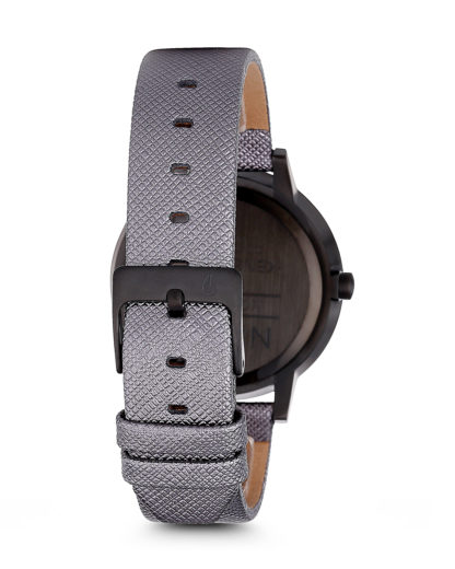 Quarzuhr Kensington Leather A108 1924-00 Gunmetal Shimmer NIXON Damen Leder 3608700175447