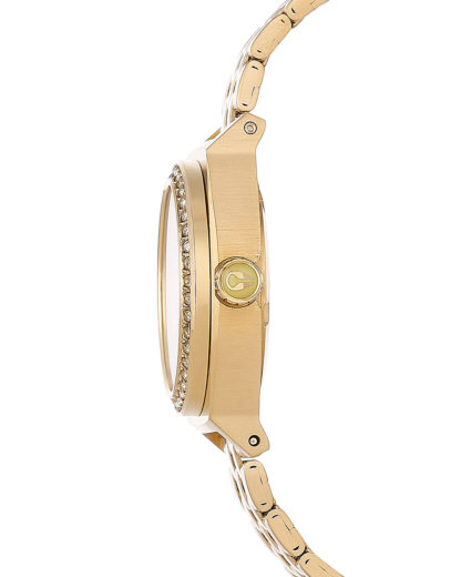 Quarzuhr Small Time Teller A399 1520-00 All Gold Crystal NIXON Damen Edelstahl vergoldet 3608700175812